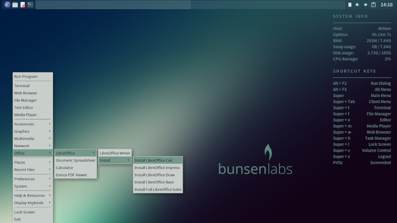 BunsenLabs 3