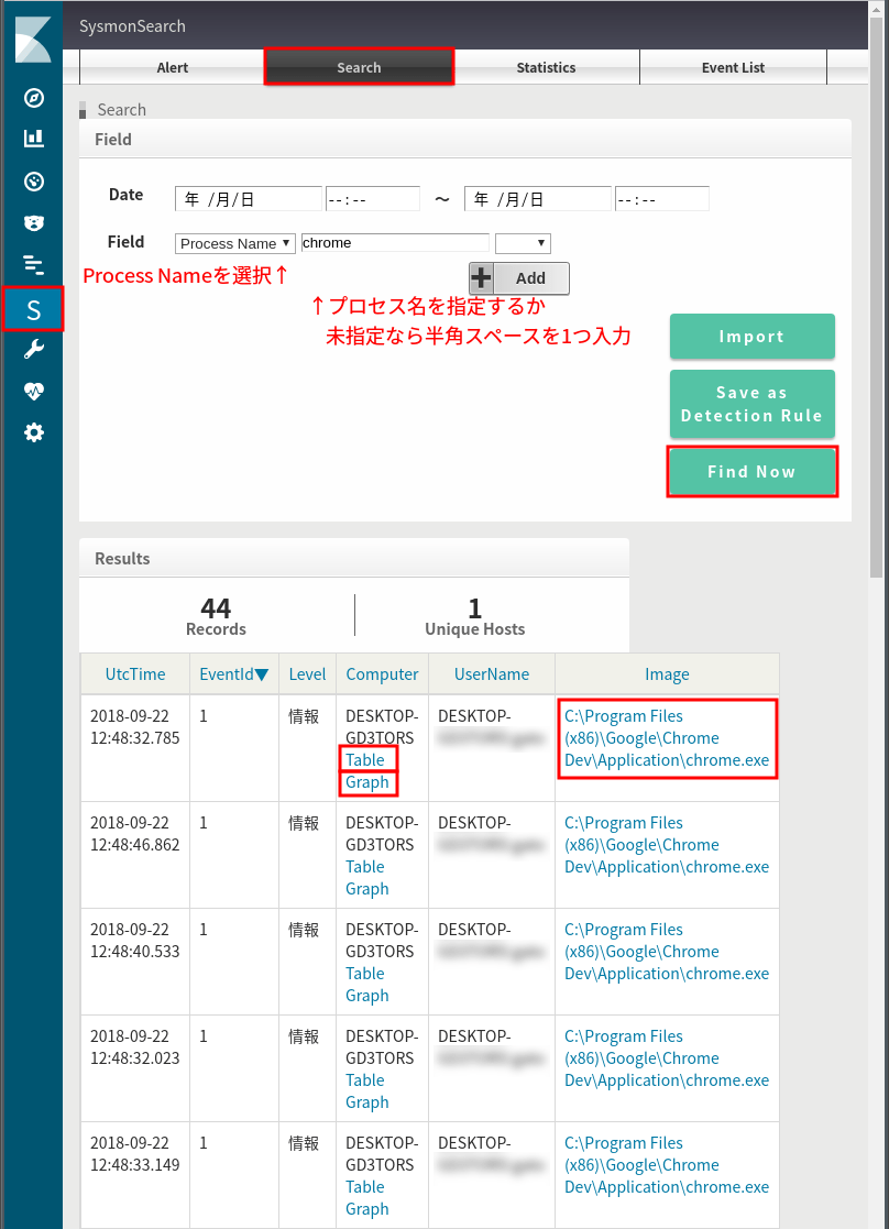 SysmonSearchを触ってみる 1