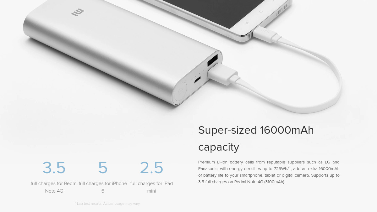 XIAOMI Mi Power Bank 16000mAh 2